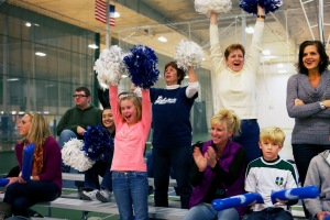 The crowd was enthusiastic during Meet the Lakers Night at Morey Courts on Nov. 30 in Mt. Pleasant. COURTESY PHOTO