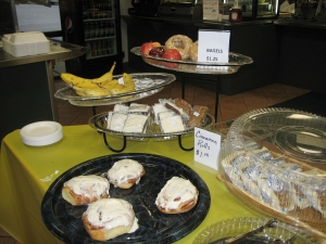 Breakfast items are available as well as a selection of cooked choices. Photo by SUSAN HOOD