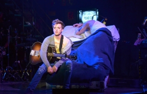 Alex Nee (Johnny) in AMERICAN IDIOT (Photo by John Daughtry)