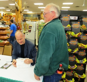 Survivor Mike Skupin was a special guest and eagerly signed autographs