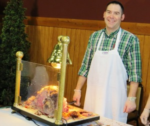 Prime rib, compliments of the Doherty Hotel, was a crowd pleaser. They were among some 15 restaurants serving food.