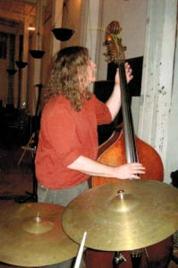 Johnston plays bass in Northwoods Improvisers