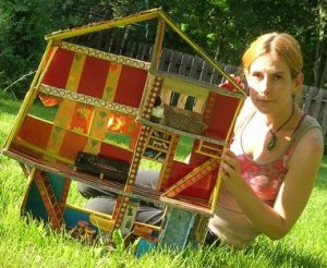 Tourangeau with her miniature art house