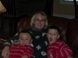My mom (Big Nanc) and my two sons, Collin and Cooper circa 2009