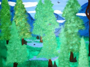 Rafael also enjoys painting nature, as shown by this painting for an MMCC art course.