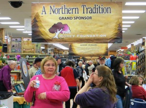 A Northern Tradition fundraiser drew a crowd to Jay's Sporting Goods for a good cause  (Laker Current photo)