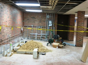 Work is progressing on new food service area