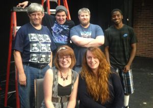 Cast photo (from L to R, back row to front row): Richard Noonan (Harrison), Dakota Hester (Harrison) Kurt Laskowsky (Harrison), Quentin Day (Gladwin), Chelsea Antcliff (Gladwin), Katey Potter (Canadian Lakes)