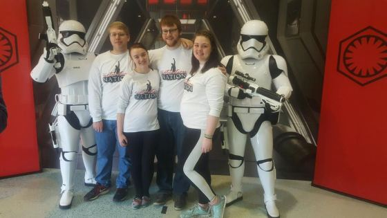 Board members with Mid's Campus Council enjoyed the Star Wars exhibit.