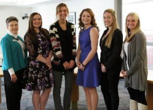 Pictured (L to R): MMCC President Chris Hammond, Madelyn McLavy, Lexi Strope, Rylie Alward, Mallory McDowell, Ally Richardson
