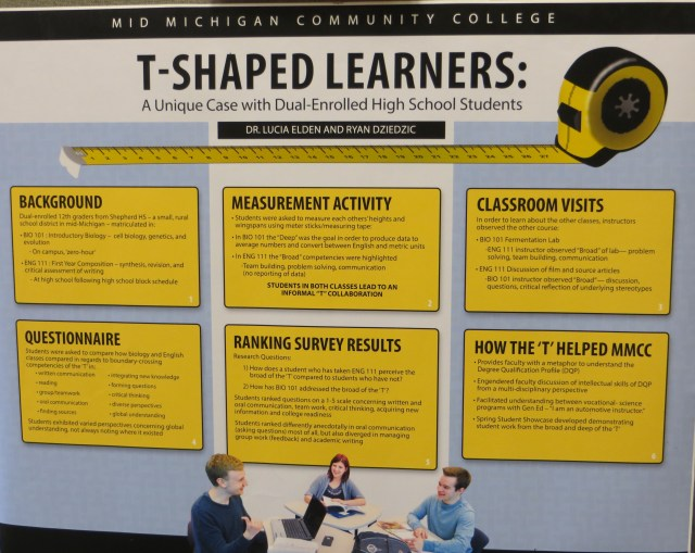 T-Shaped Learning was the central theme of MMCC's Student Showcase.