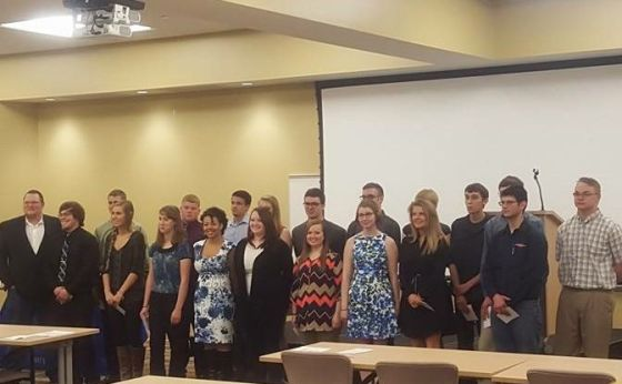Some of Phi Theta Kappa's new inductees