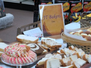 Local restaurants provided a variety of food, including homemade bread and desserts