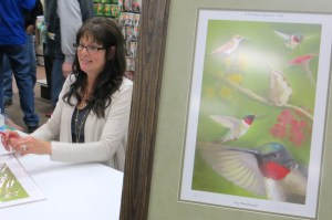 Featured artist Betty Bonham met with guests and signed prints